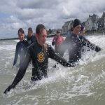marche aquatique côtiére grandcamp-maisy en normandie